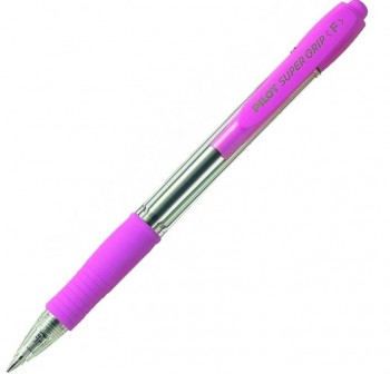 Bolígrafo Tinta aceite retráctil super Grip punta trazo 0,4mm rosa