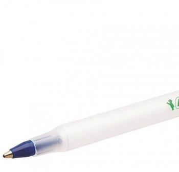 Bolígrafo ecológico Tinta aceite Bic ecolutions round stic 07mm azul