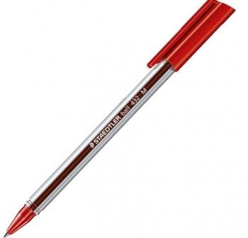 Bolígrafo Staedtler Ball office colours trazo medio rojo