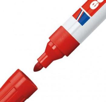 Marcador pizarra blanca Edding 660 trazo 1,5-3mm rojo