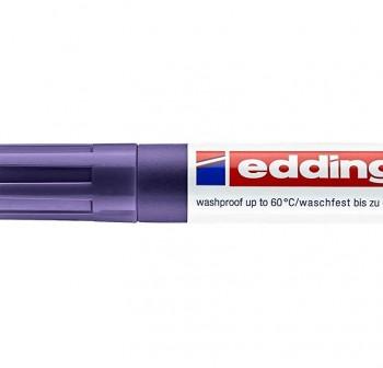 Marcador permanente especial tela edding 4500 punta cónica trazo 3mm violeta neón
