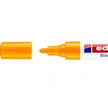 Marcador Edding 4095 de tiza liquida para pizarras y vidrio, con punta redonda trazo 2-3 mm naranja