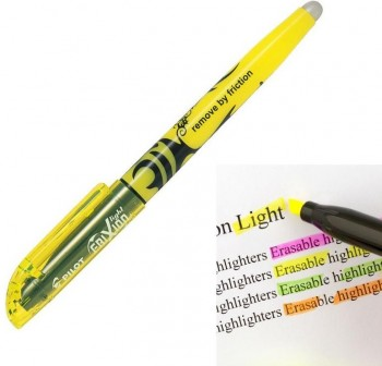 Fluorescente borrable frixion light amarillo