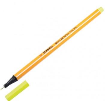 Rotulador punta fieltro fina Stabilo point 88 trazo 0,4mm amarillo neón