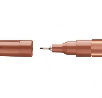 Marcador permanente especial Edding 780 trazo 0,8mm cobre