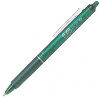 Bolígrafo Pilot borrable Frixion clicker punta bola rectráctil verde