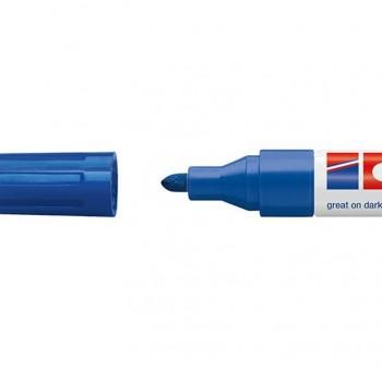 edding Marcador permanente tinta opaca edding 750 punta cónica trazo 2-4mm azul