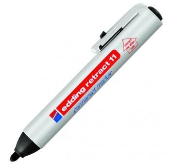 edding Marcador permanente retráctil edding punta redonda trazo de 1,5-3 mm negro