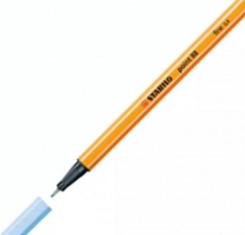 Stabilo Rotulador punta Point 88 trazo 0,4mm azul hielo