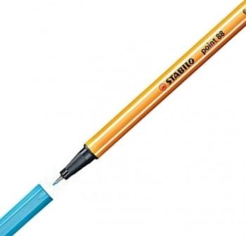 Stabilo Rotulador punta Point 88 trazo 0,4mm azul neón