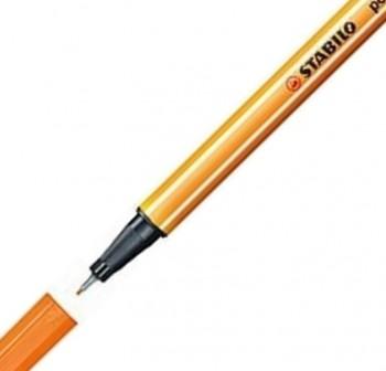 Stabilo Rotulador punta Point 88 trazo 0,4mm naranja neón