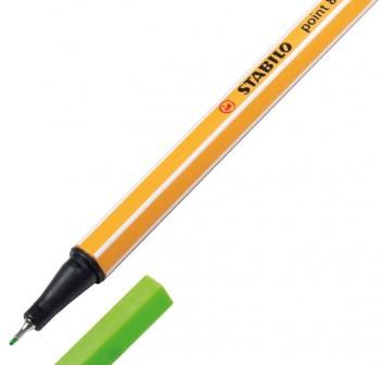 Stabilo Rotulador punta Point 88 trazo 0,4mm verde neón