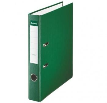 ESSELTE Arch.palanca carton/plastificado  lomo estrecho DINA4 VERDE