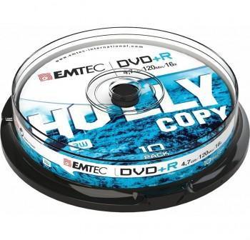 EMTEC Pack 10 DVD+R 4.7gb 4x tartera