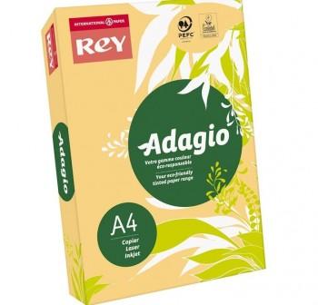 ADAGIO Paquete 500h papel color paper 80gr DINA4 amarillo intenso