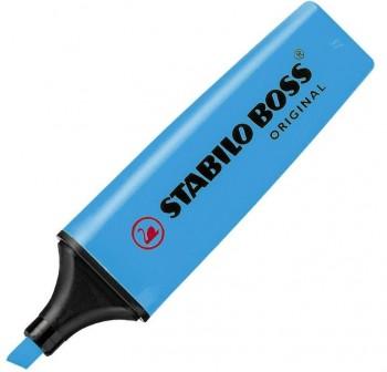 Rotulador fluorescente Stabilo Boss trazo 5mm azul