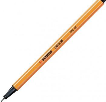 Rotulador punta fieltro fina Stabilo point 88 trazo 0,4mm negro