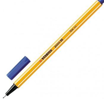 Rotulador punta fieltro fina Stabilo point 88 trazo 0,4mm azul