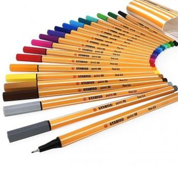 Pack 20 Rotuladores punta fieltro fina Stabilo point 88 zebrui colores surtidos