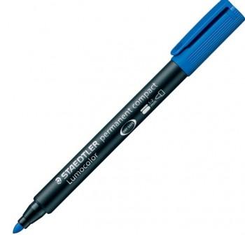 Rotulador permanente Staedtler lumocolor compact trazo 2mm azul