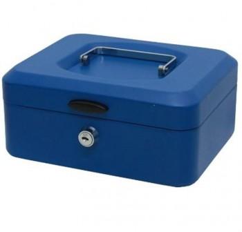 Caja de caudales con bandeja pequeña color azul