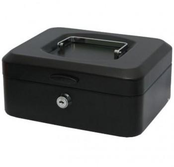 Caja de caudales con bandeja grande color negro