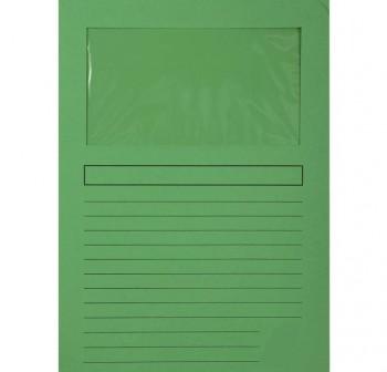 5STAR Pack 50 subcarpetas con ventana A4 color verde