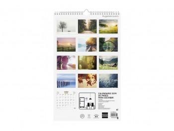 FINOCAM Calendario pared espiral LUGARES ENS. 2019