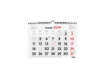 FINOCAM Calendario pared numeros grandes S 2019