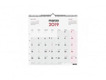 FINOCAM Calendario pared escribir 30x30. 2019