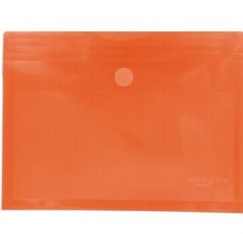 GRAFOPLAS Pack de 5 sobres pp multiline velcro tarjeta 105x62 NARANJA