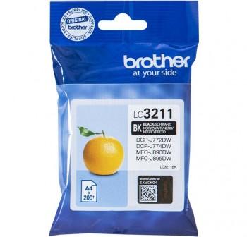 BROTHER Cartucho inkjet LC3211BK original NEGRO (0,2k)