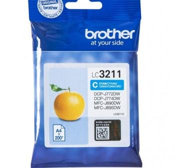 BROTHER Cartucho inkjet LC3211C original CYAN (0,2k)