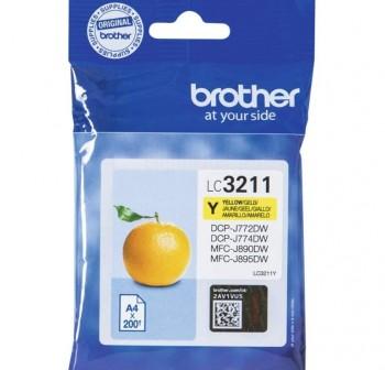 BROTHER Cartucho inkjet LC3211Y original AMARILLO (0,2k)