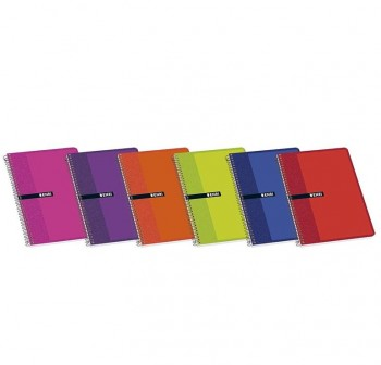 ENRI Cuaderno tapa normal 80 hojas 12º C-4mm