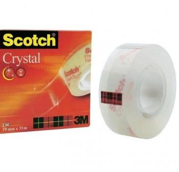 SCOTCH Cinta adhesiva 33x19mm. crystal