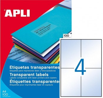 APLI Etiquetas l/c resistentes a la interperie blanco 105x148mm mate (80etiq)