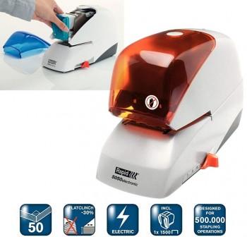 RAPID Grapadora eléctrica 5050E plata/naranja