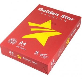 GOLDEN Star rojo premiu Papel Din A4 80gr.Pack 500 hojas blanco
