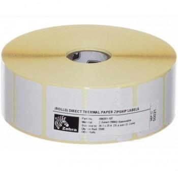 ZEBRA Rollo etiqueta termica directa 25x76mm