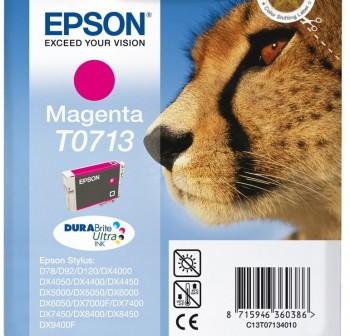 Cartucho Ink-Jet Epson C13T07134021 Blister+ alarma magenta