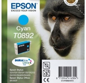 Cartucho Ink-Jet Epson C13T08924021 Blister+alarma radiofrecuencia  cyan