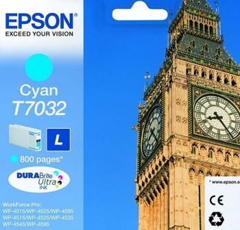 EPSON Cartucho inkjet T7032 L original CIAN 0,8k