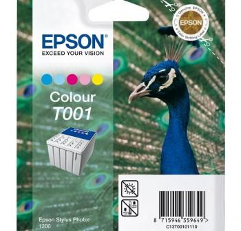 Cartucho Ink-jet Epson C13T00101110 cyan, magenta y amarillo