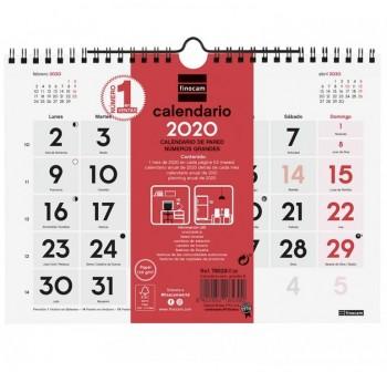 FINOCAM Calendario pared numeros grandes S 2021