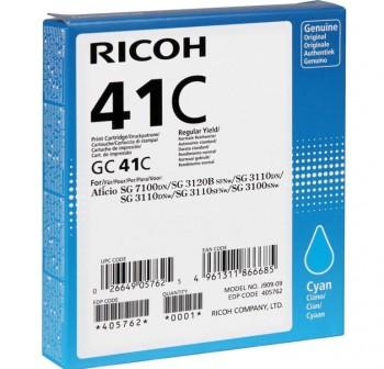 RICOH Cartucho inkjet TYPE GC41C CYAN original SG3110DN/3110DNW