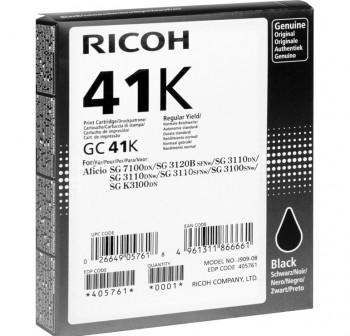 RICOH Cartucho inkjet TYPE GC41K NEGRO original SG3110DN/3110DNW