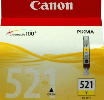 Cartucho Ink-jet Canon CLI-521 amarillo