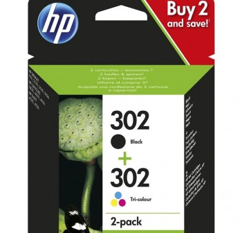 HP Cartucho Ink-Jet HP X4D37AE Doble pack negro/tricolor