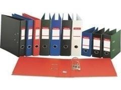 ESSELTE Archivador de palanca carton/plastificado lomo 50mm estrecho DINA4 AZUL